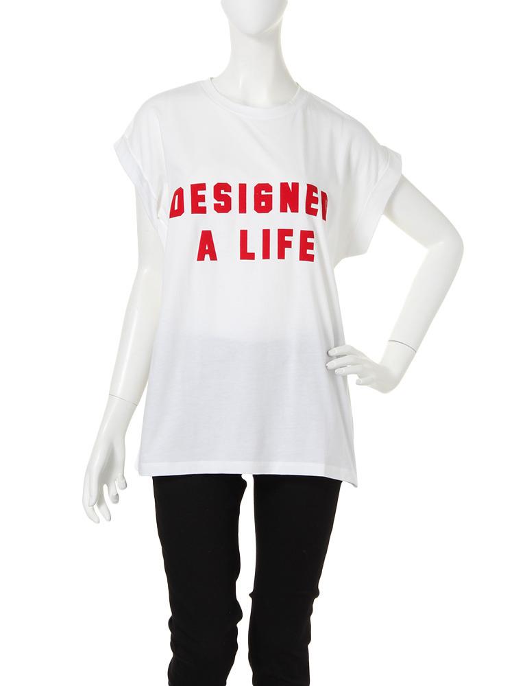 RED MESSAGE Tシャツ(ホワイト-F)