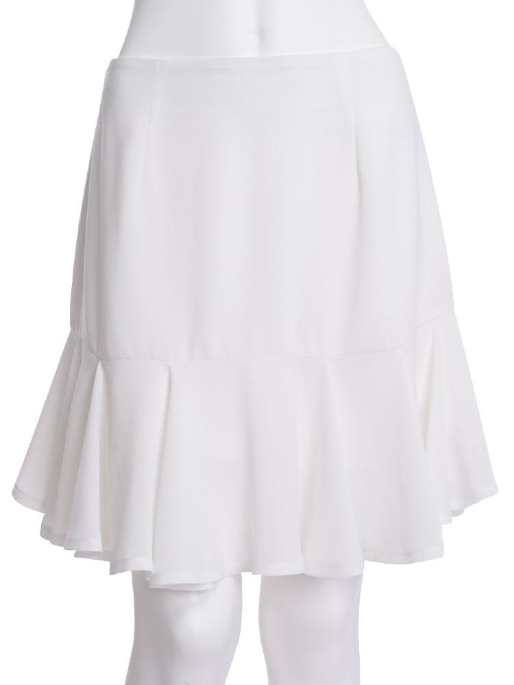 【CHIC】サイドショートフリルスカート(ホワイト-S)