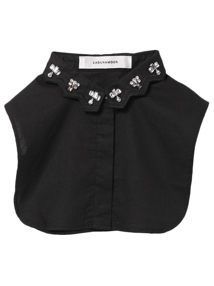 ジャグドビジュ刺繍collor(ブラック-F)