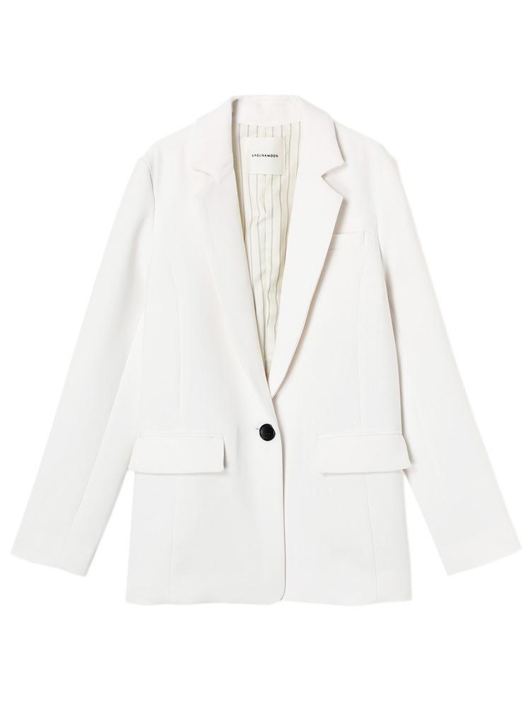 【CHIC】Dressesテーラードジャケット(ホワイト-S)