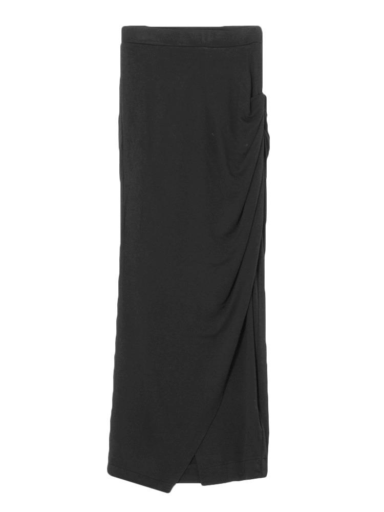 クロスタイトマキシスカート(ブラック-S)