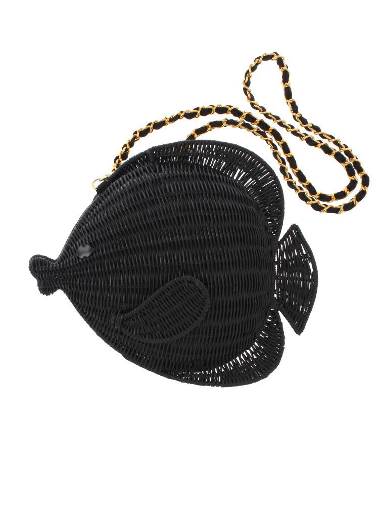 FishクラッチBAG(ブラック-F)