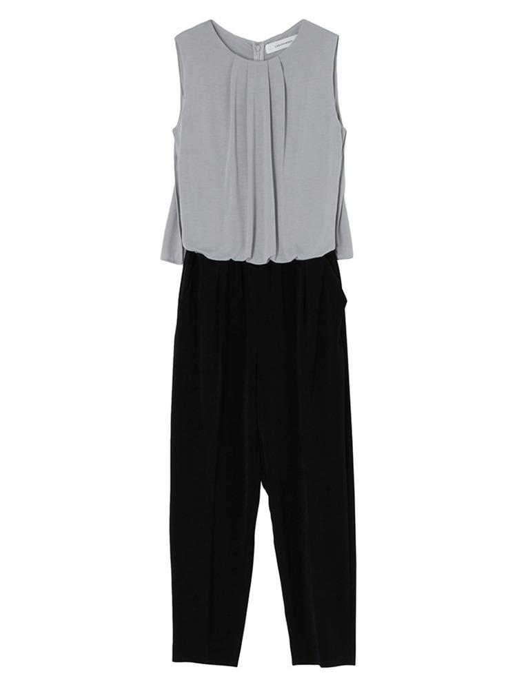 タックマントジャンプスーツ(ライトグレー-S)