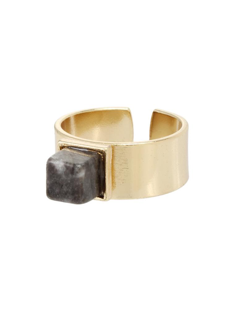 Marble stone リング(ブラック-F)