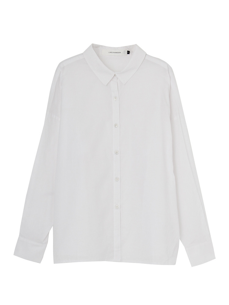【WEB限定】Basicフォルムシャツ(ホワイト-F)