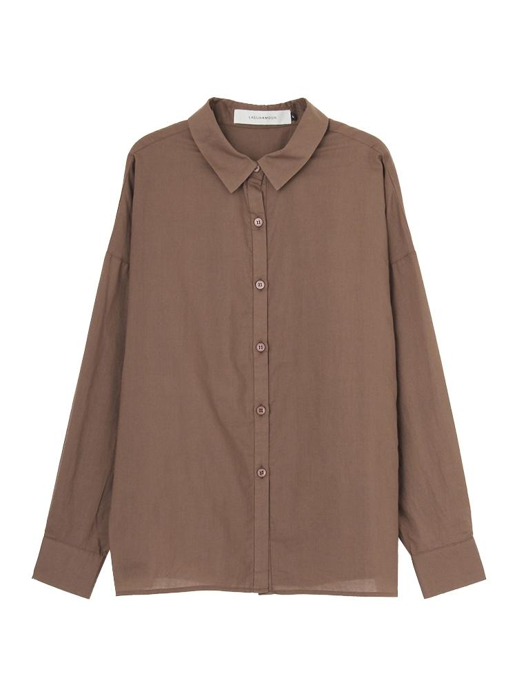 【WEB限定】Basicフォルムシャツ(ブラウン-F)
