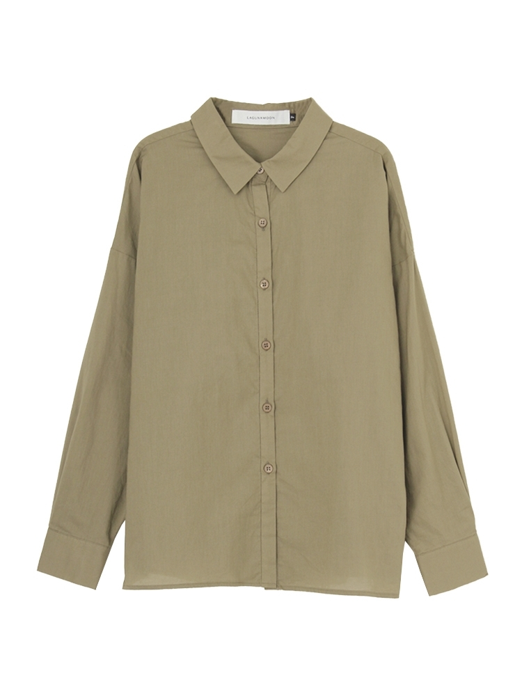 【WEB限定】Basicフォルムシャツ(カーキ-F)
