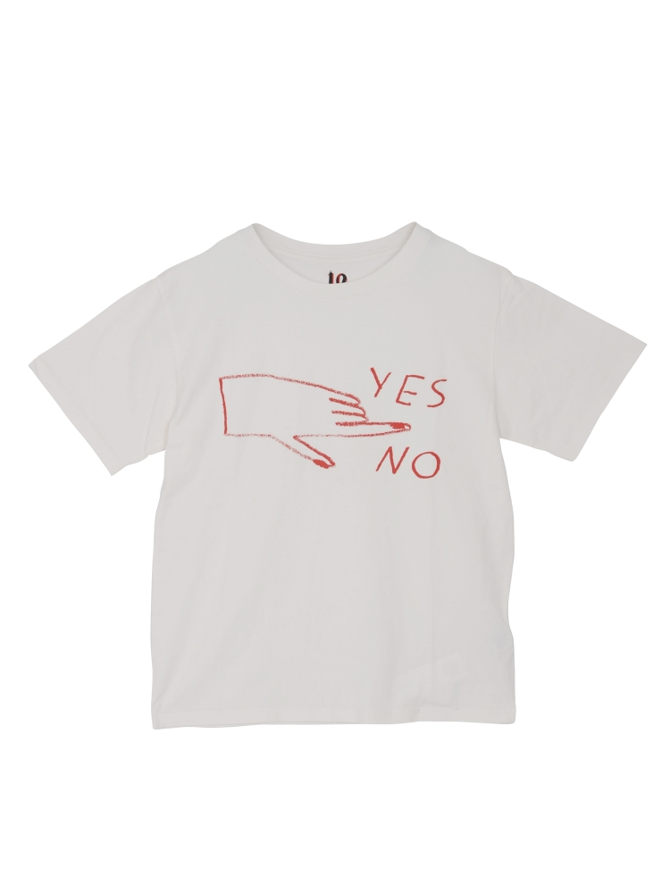 〈Maria Ines Gul〉YES NO Tシャツ(レッド-F)