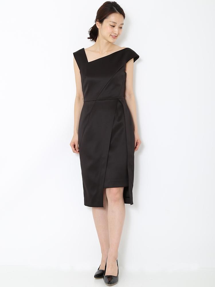 LADYアシンメトリータイトドレス