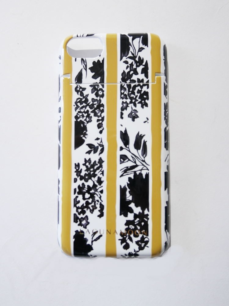 iPhone7ケース 【Shadow flower】(マスタード-F)