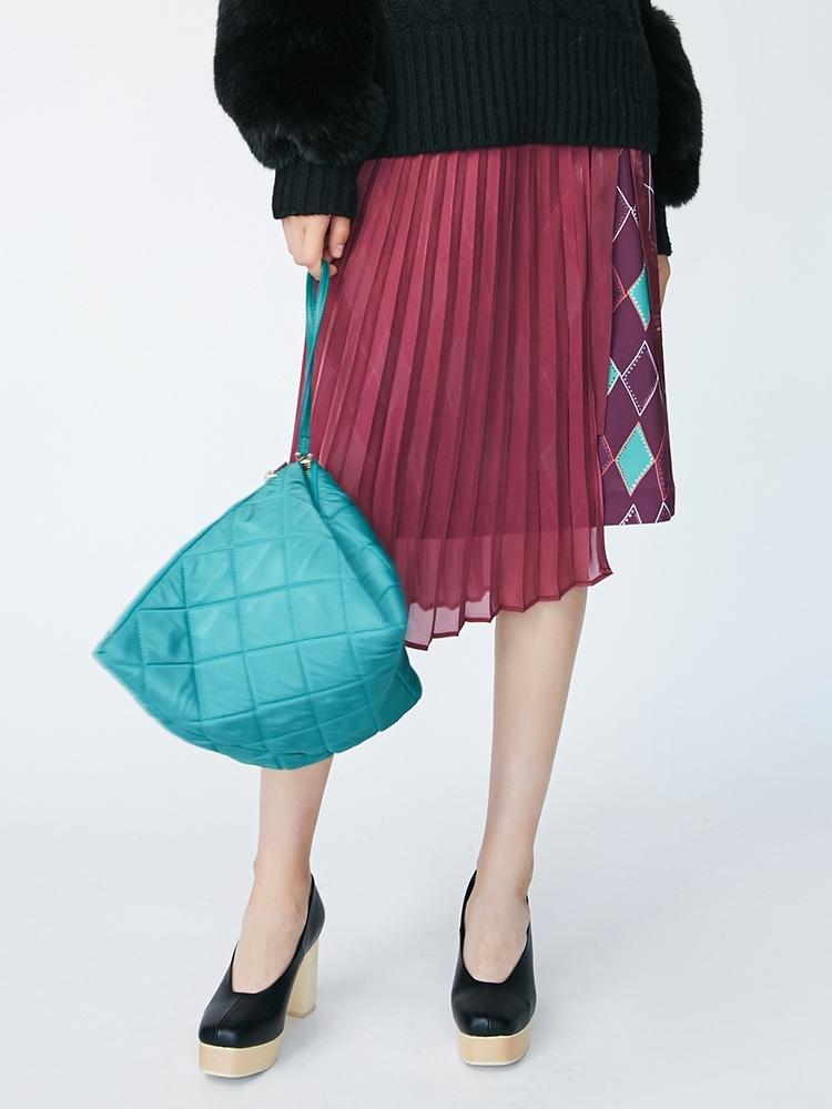 Modernアーガイルシースルーラップスカート