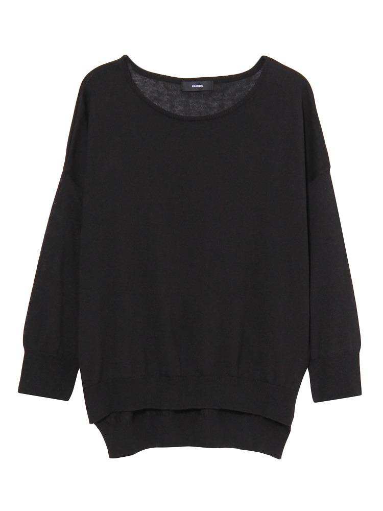 Bright knit TOP(ブラック-F)