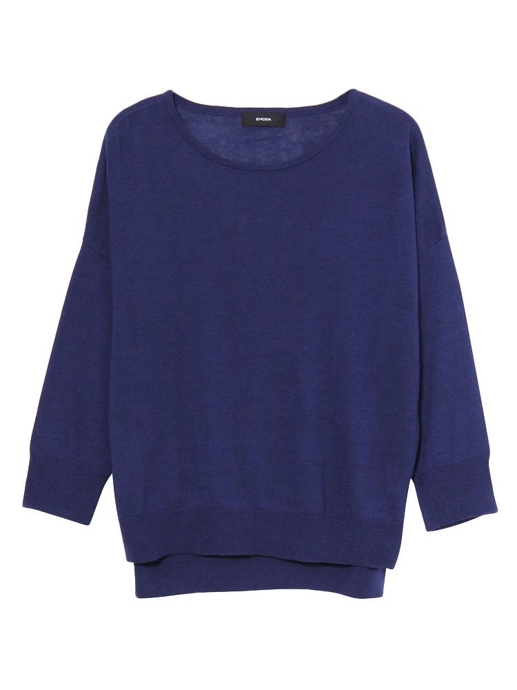 Bright knit TOP(ネイビー-F)