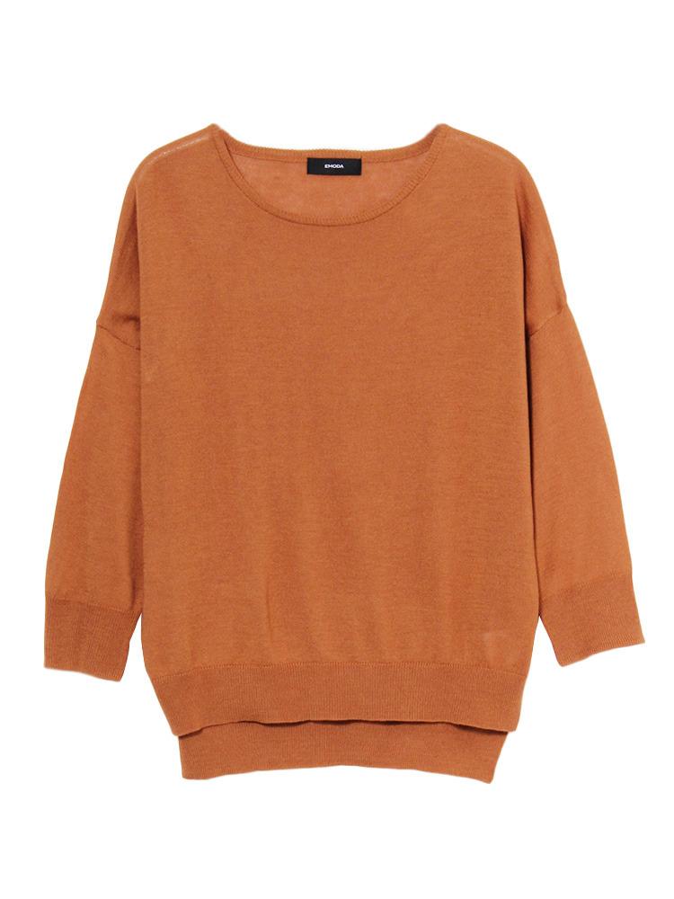Bright knit TOP(キャメル-F)