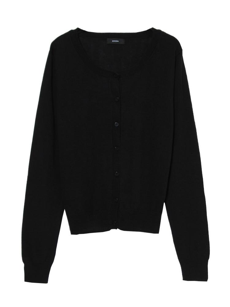 darkカラーknitカーデ(ブラック-F)