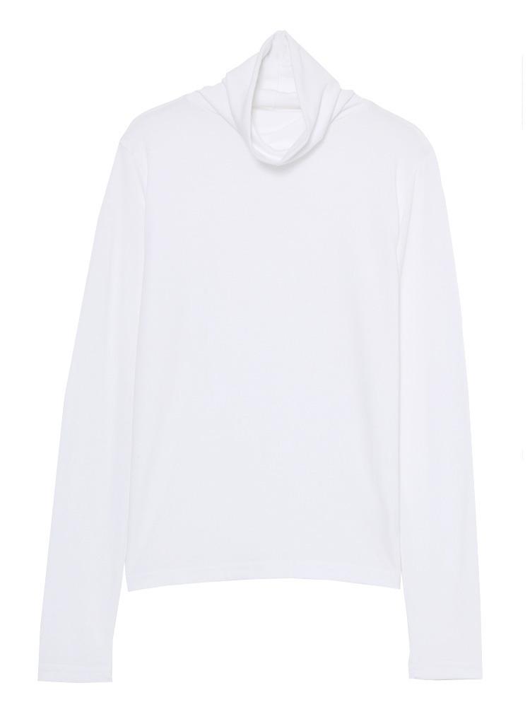 minimalタートルネックL/T(ホワイト-S)