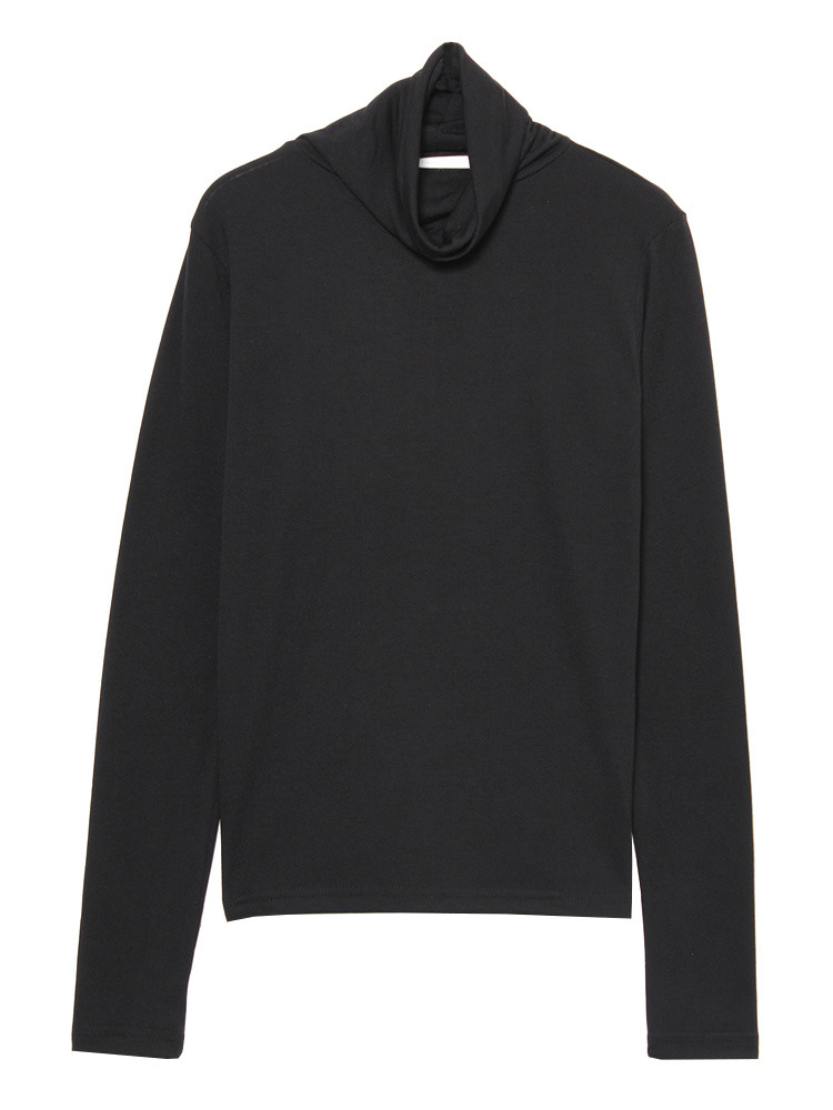 minimalタートルネックL/T(ブラック-S)