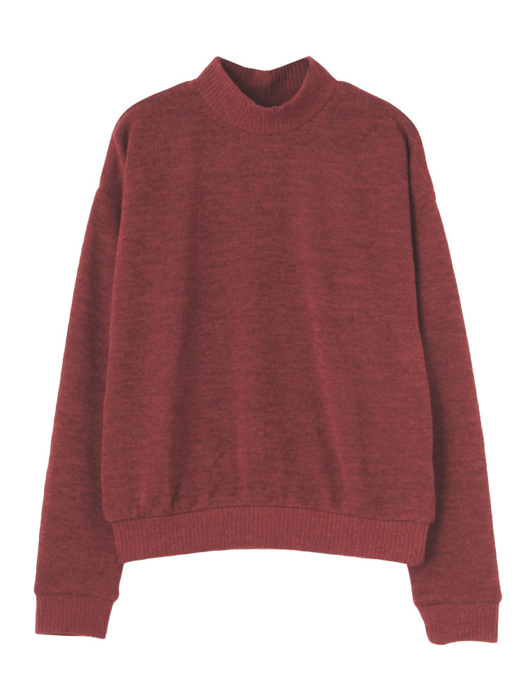 COLORニットソーTOPS(レッド-F)