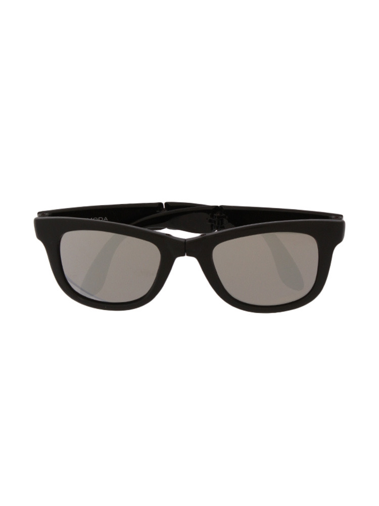 ミラーレンズコンパクトサングラス(ブラック-F)