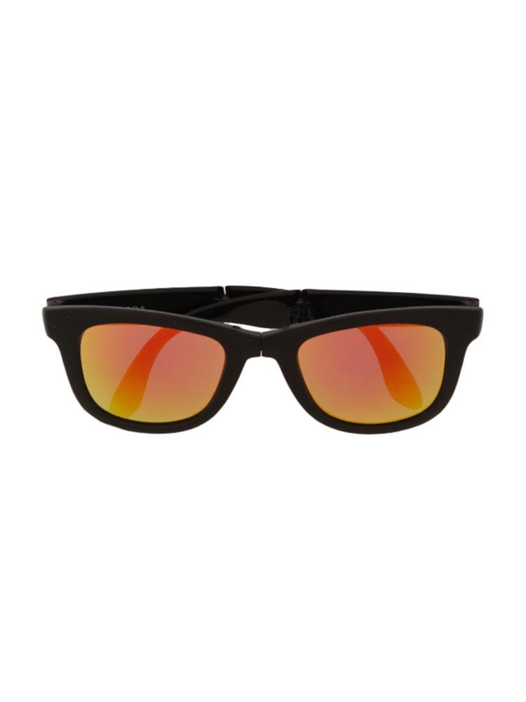 ミラーレンズコンパクトサングラス(オレンジ-F)