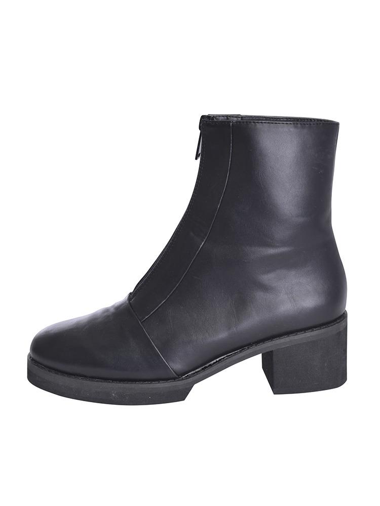 ZIPタイトブーツ(ブラック-S)