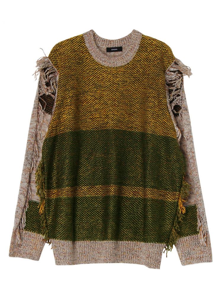 MIX FRINGE knit(マスタード-F)