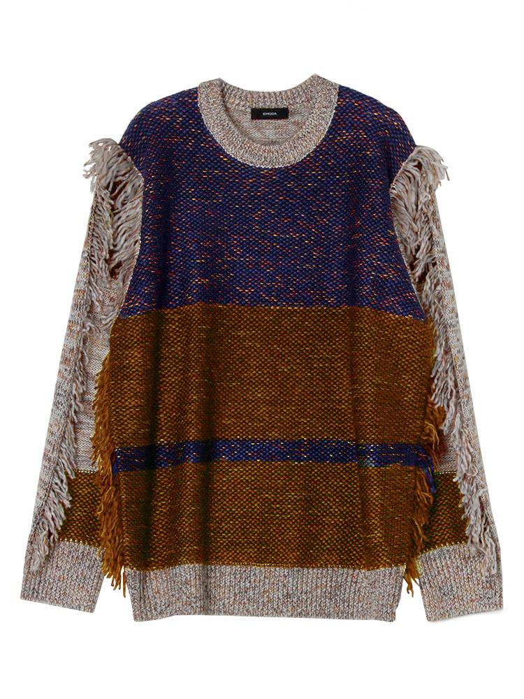 MIX FRINGE knit(ネイビー-F)