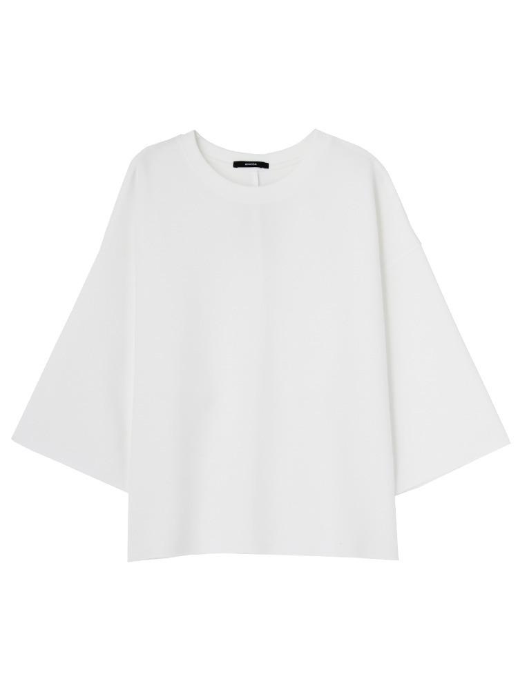 ドレープバルキーTシャツ(ホワイト-F)