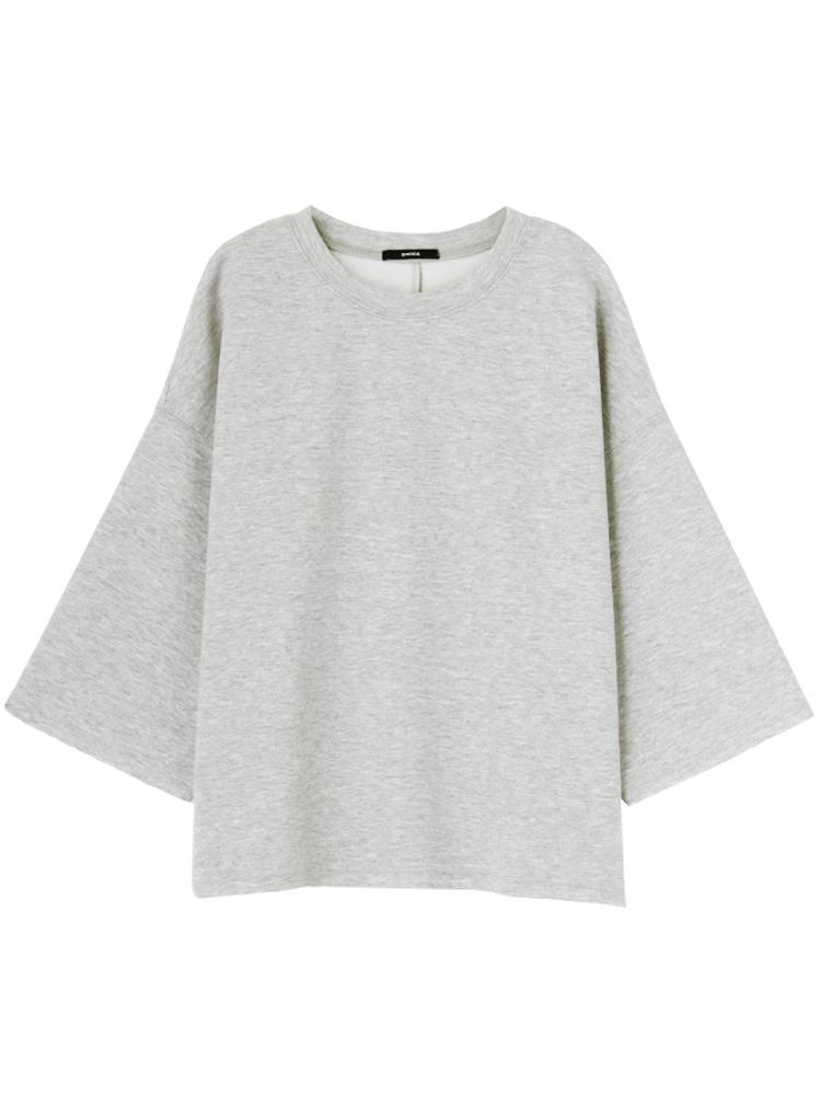 ドレープバルキーTシャツ(グレー-F)
