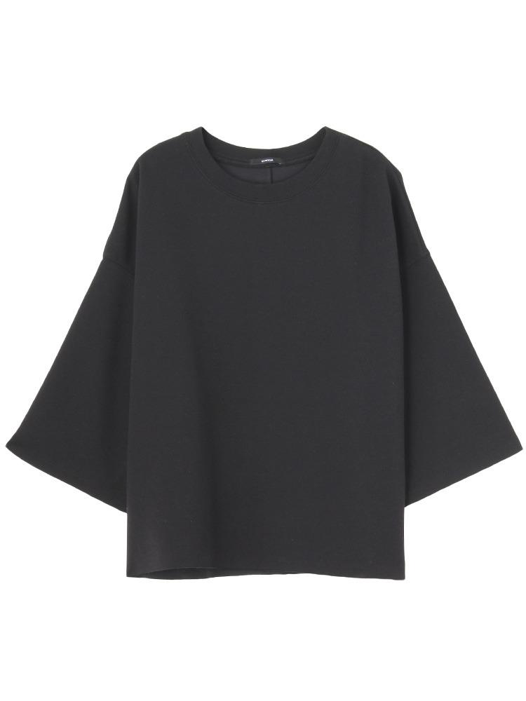 ドレープバルキーTシャツ(ブラック-F)