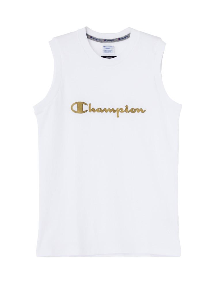 EMODA×Champion BOX タンクトップ(ホワイト-S)