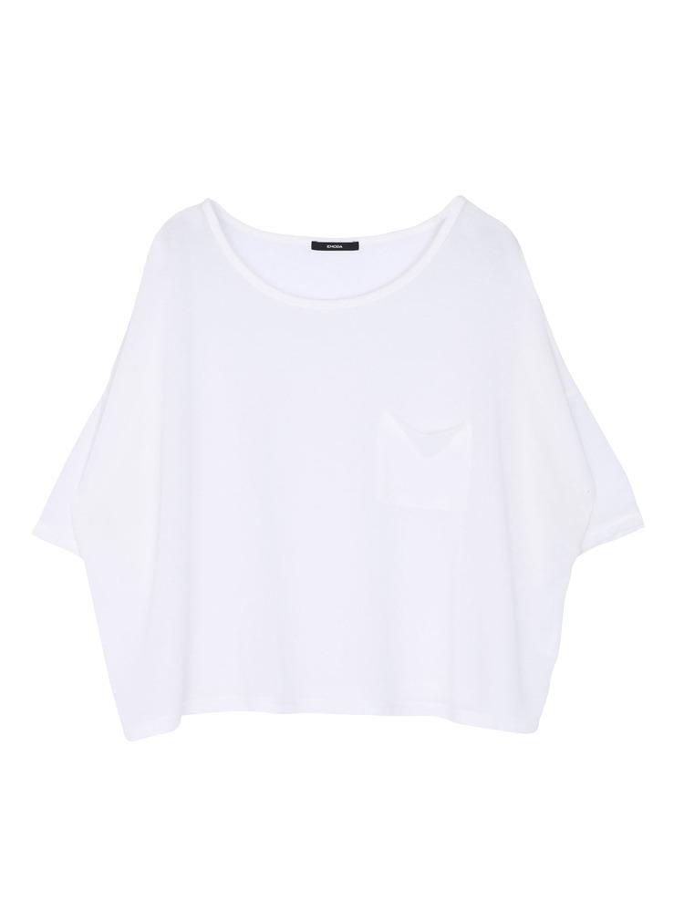 ワッフルルーズTシャツ(ホワイト-F)
