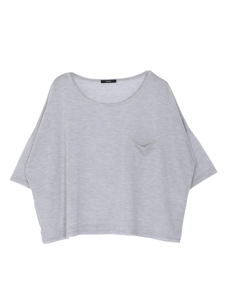 ワッフルルーズTシャツ(グレー-F)