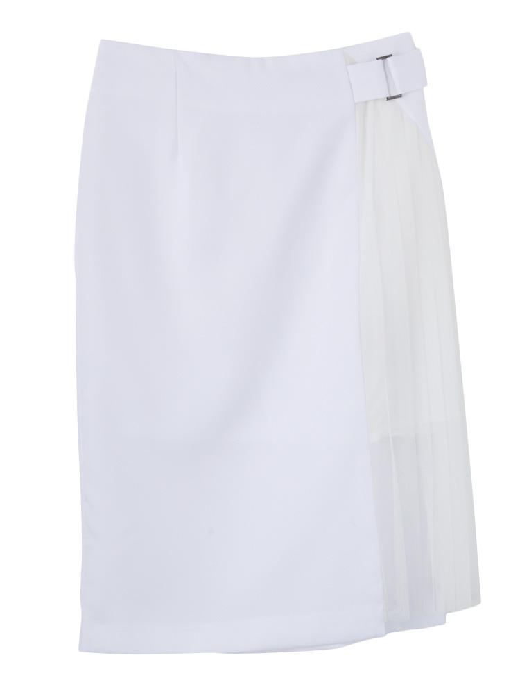 W cloth スカート(ホワイト-S)