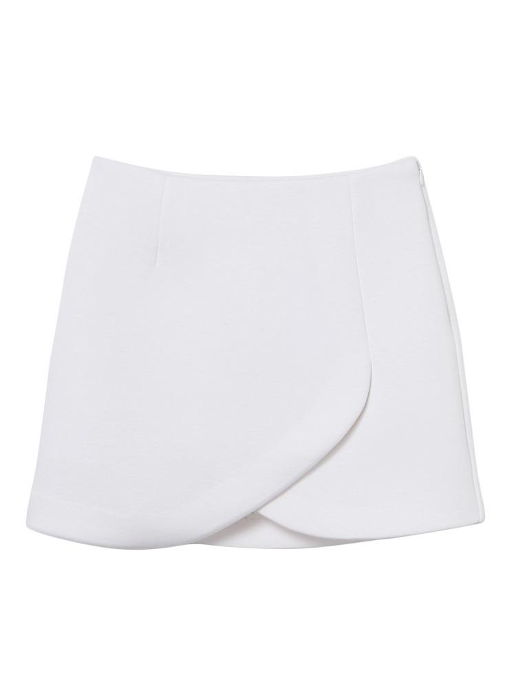 ラップミニスカート(ホワイト-S)