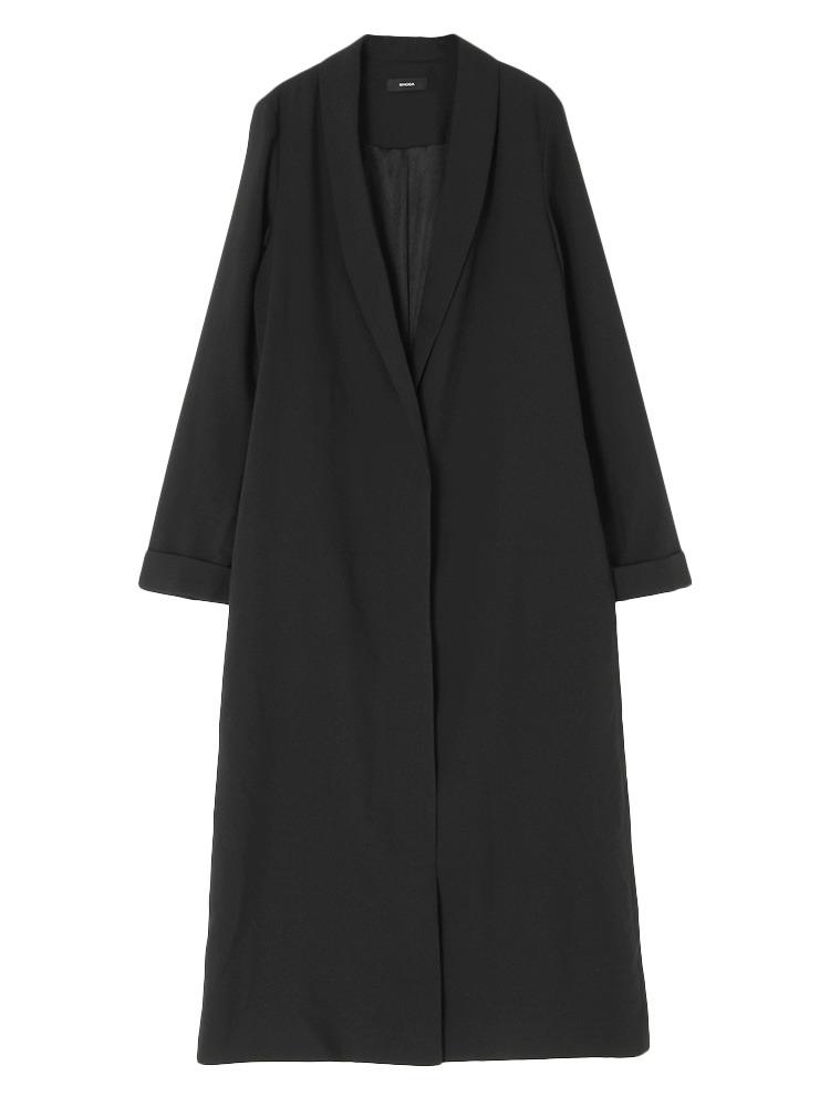 ショールカラーLONGジャケット(ブラック-F)