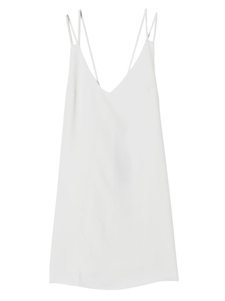 DOUBLE STRAPキャミワンピース(ホワイト-S)