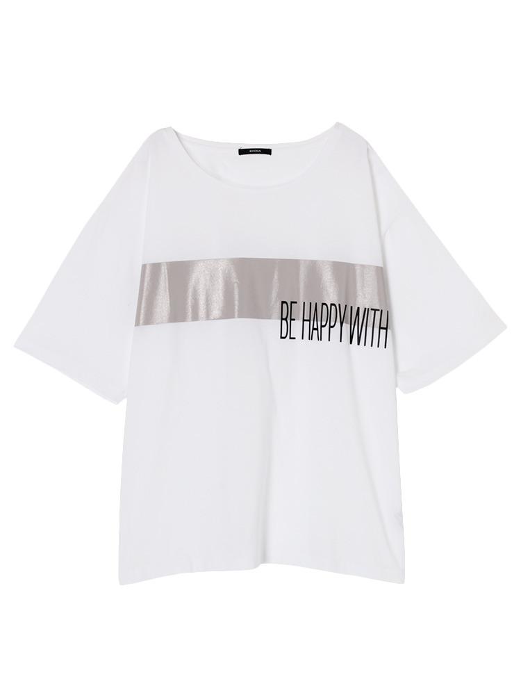 Be happy Tシャツ(ホワイト-F)