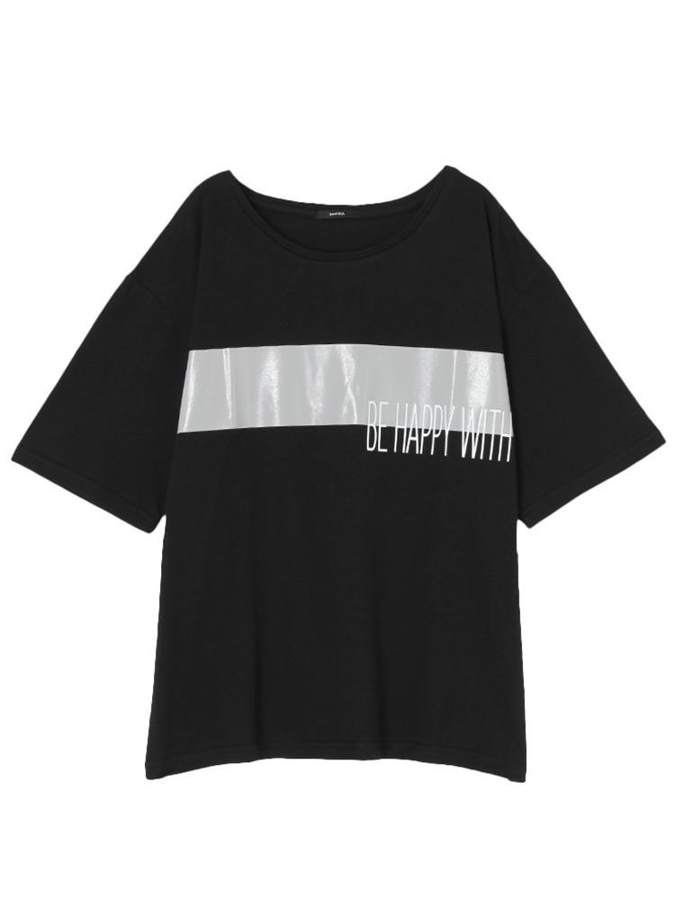 Be happy Tシャツ(ブラック-F)