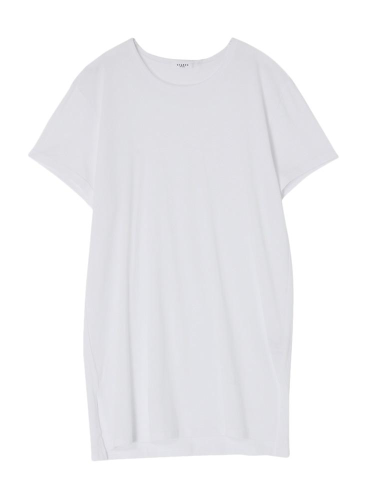 【SHARED】LONG LENGTH SQUARE Tシャツ(ホワイト-1)