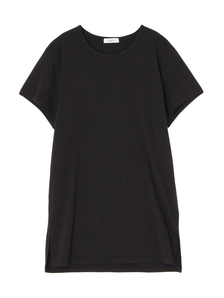 【SHARED】LONG LENGTH SQUARE Tシャツ(ブラック-1)