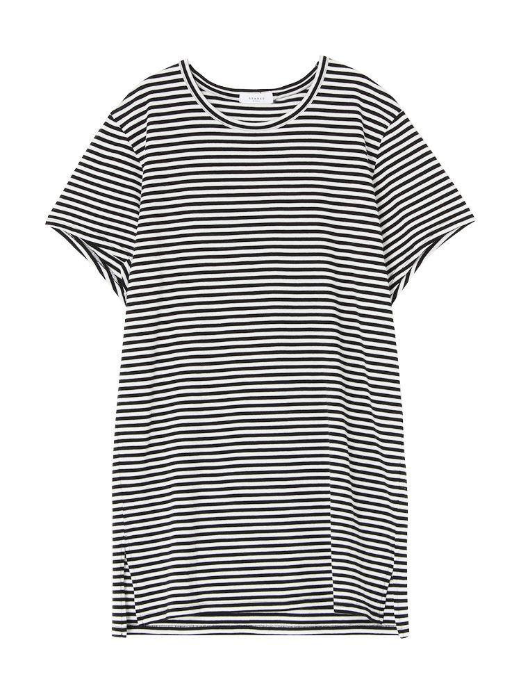 【SHARED】LONG LENGTH SQUARE Tシャツ(ライトミックス-1)