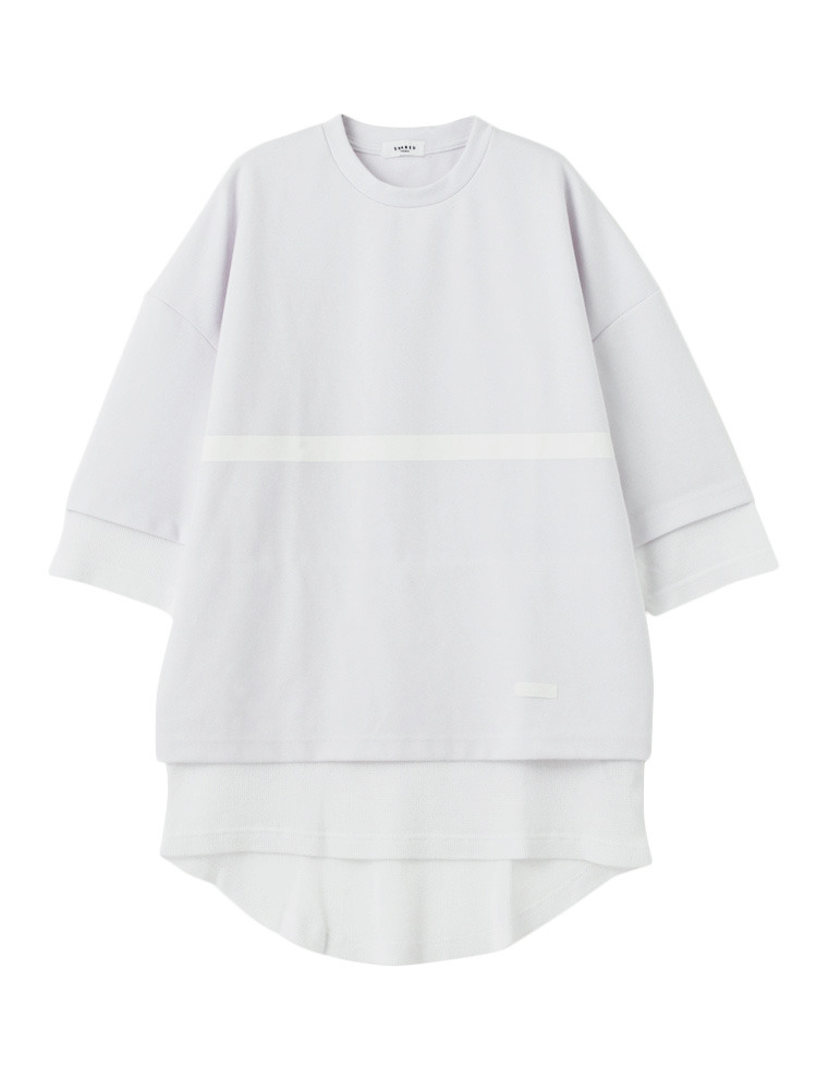 【SHARED】FRONT LINE LAYERED Tシャツ(ホワイト-1)