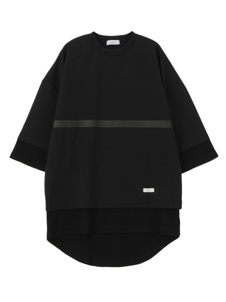 【SHARED】FRONT LINE LAYERED Tシャツ(ブラック-1)