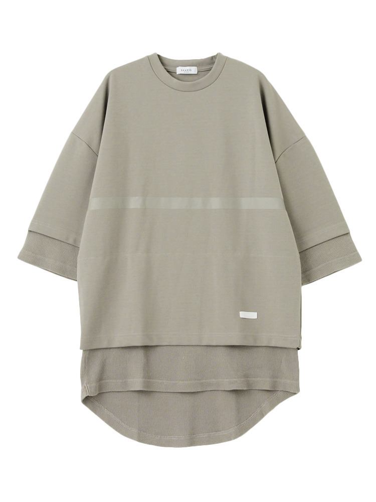 【SHARED】FRONT LINE LAYERED Tシャツ(カーキ-1)