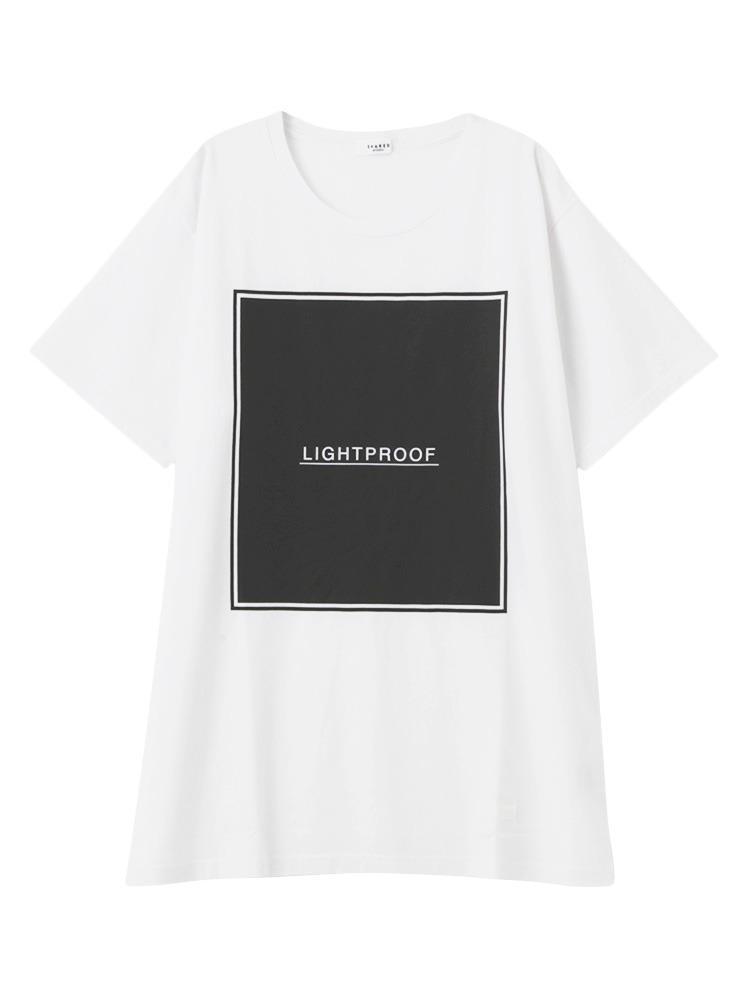 【SHARED】LIGHT PROOF BOX FRAME Tシャツ(ホワイト-F)