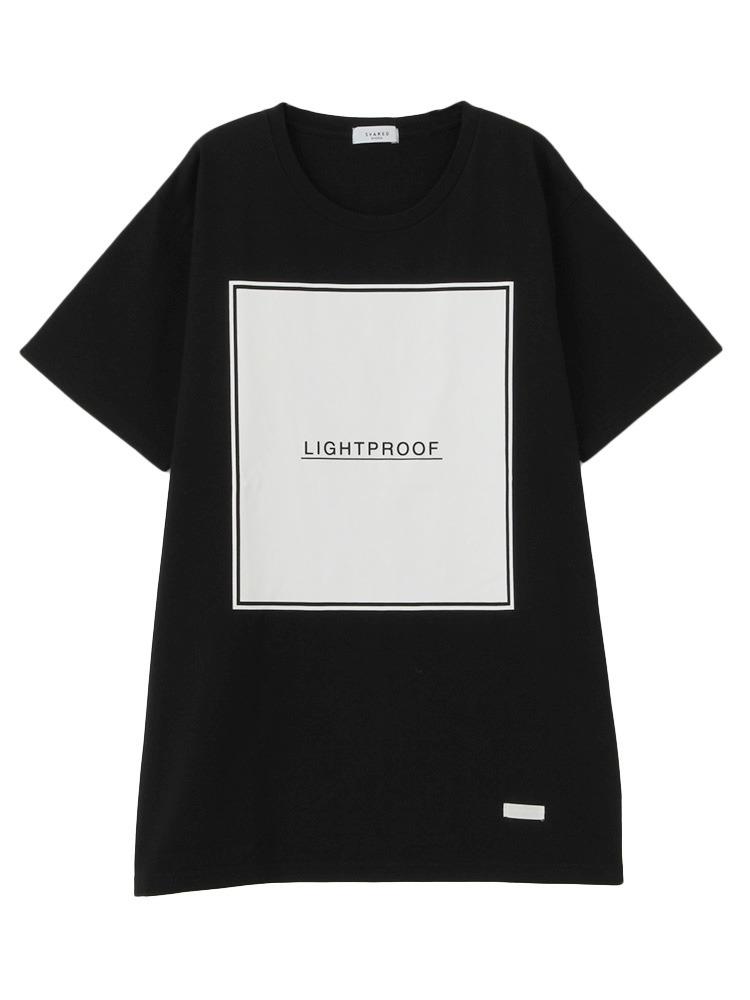【SHARED】LIGHT PROOF BOX FRAME Tシャツ(ブラック-F)
