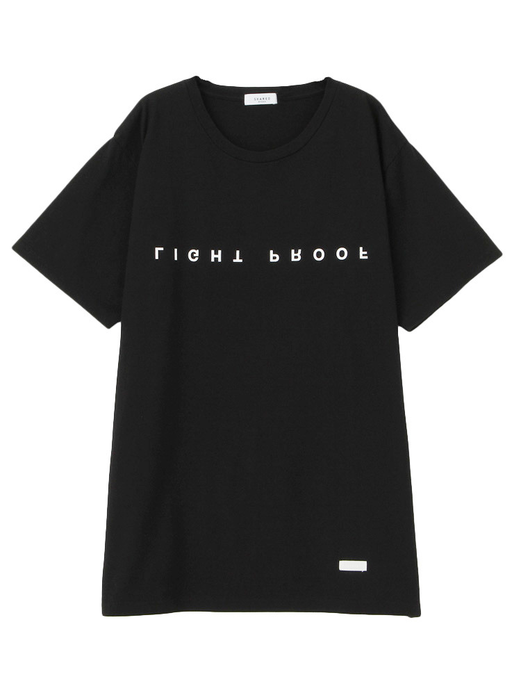 【SHARED】LIGHT PROOF UPSIDE DOWN Tシャツ(ブラック-F)