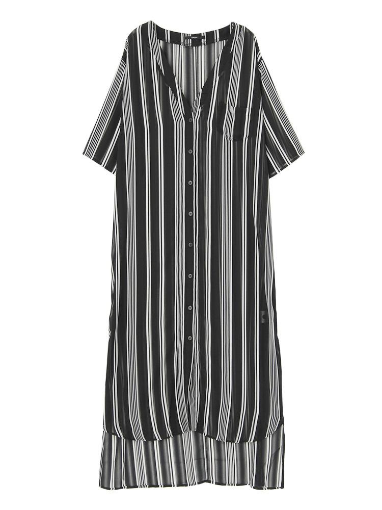 Ciffon maxiシャツ(ミックス-F)