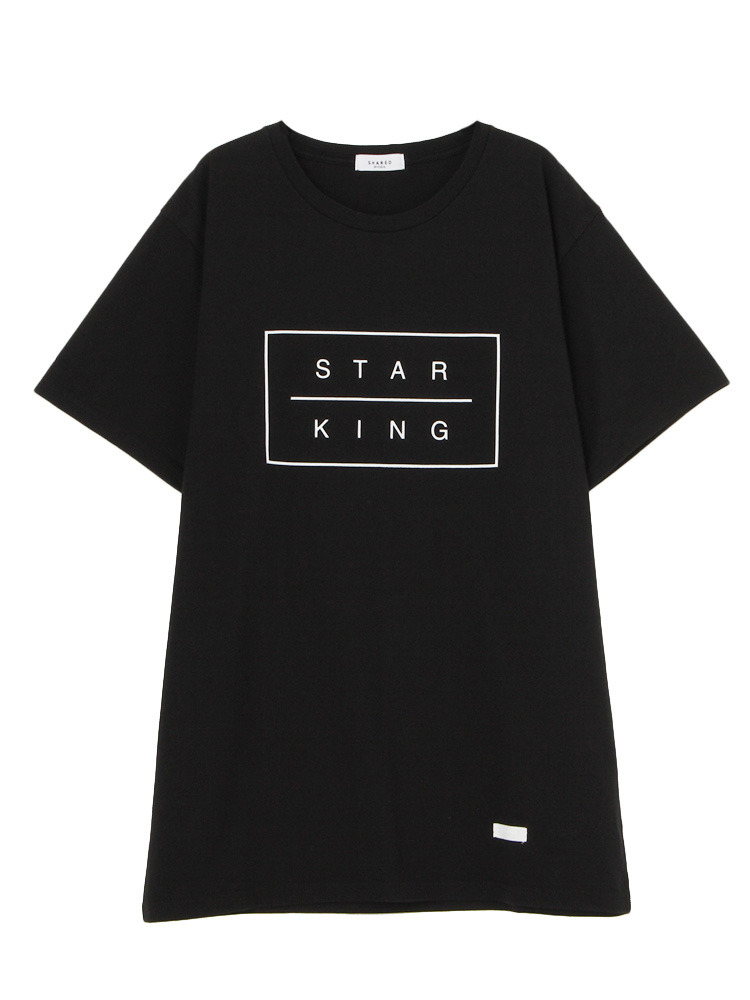 【SHARED】STAR KING BOX Tシャツ(ブラック-F)